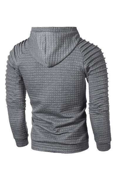 Solid Color Pleated Pullover Pocket Men's Hoodie-[variant_title]-looksinn