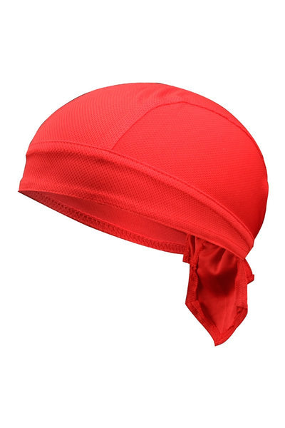 Solid Color Breathable Tie-Behind Men's Outdoor Cap-Red-looksinn