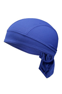 Solid Color Breathable Tie-Behind Men's Outdoor Cap-Blue-looksinn