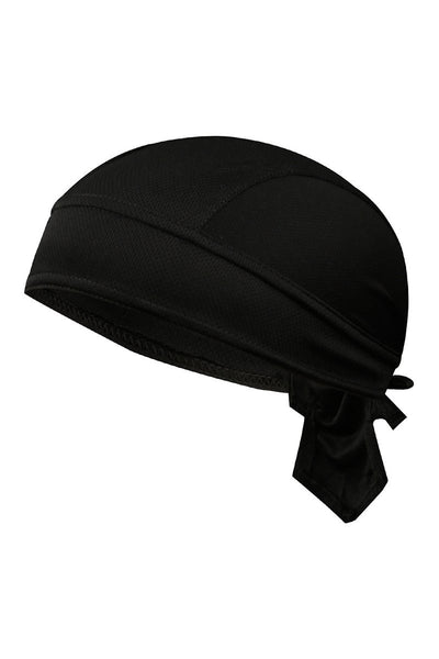 Solid Color Breathable Tie-Behind Men's Outdoor Cap-Black-looksinn