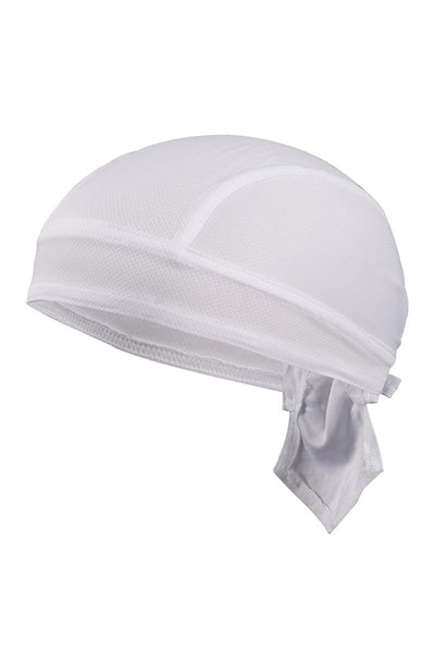 Solid Color Breathable Tie-Behind Men's Outdoor Cap-White-looksinn