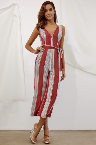 Casual Printing Buttoned Jumpsuit-[variant_title]-looksinn