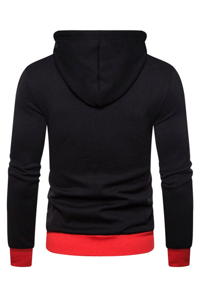 Simple Pure Color Stripe Men's Hoodie-[variant_title]-looksinn