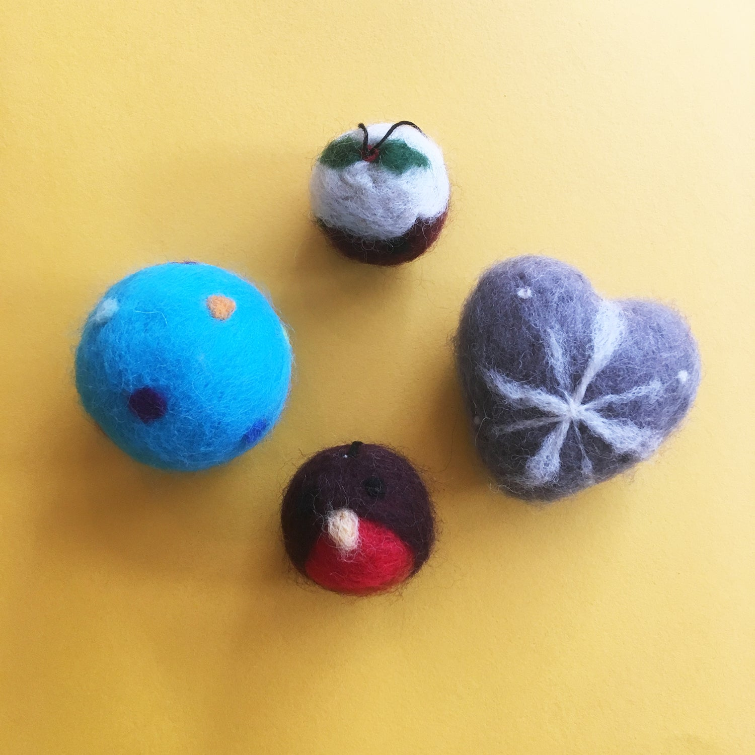 Workshop: Needle Felted Christmas Baubles - The York Makery