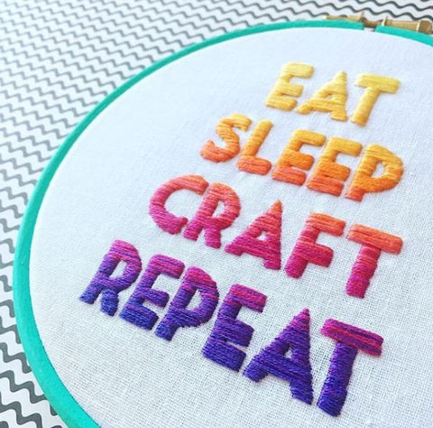 Sewing: Hand Embroidery Ombre Lettering with HelloHoorayBlog - The York Makery
