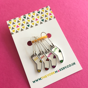 Hand Drawn Sock Stitch Markers - The York Makery