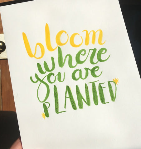 Workshop: Watercolour Brush Lettering - The York Makery