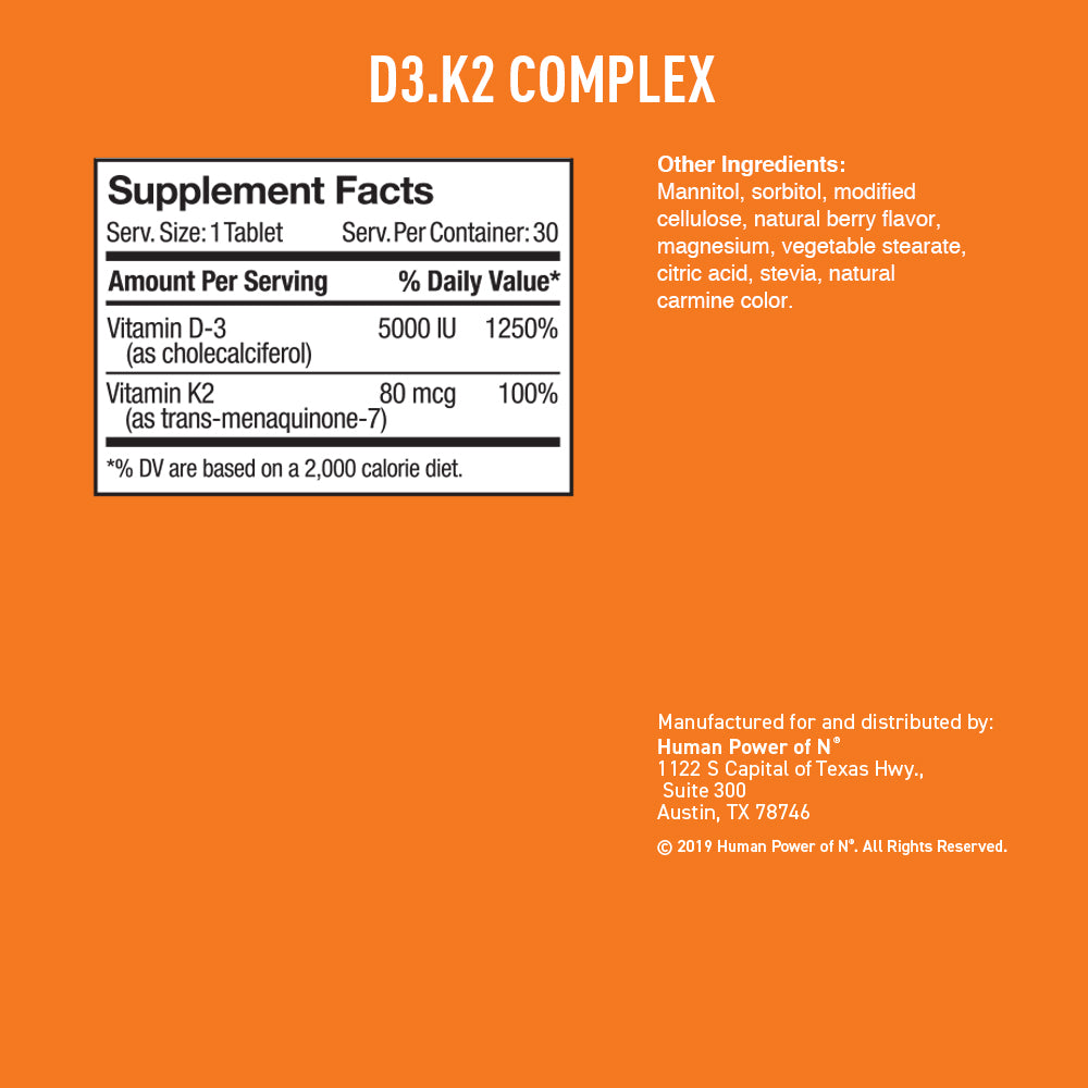 Label showing supplement facts and other ingredients