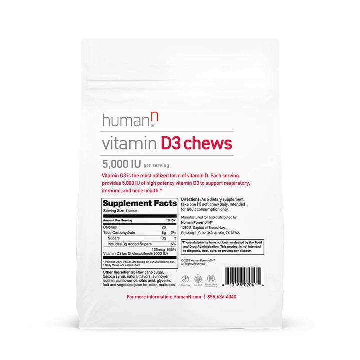 Vitamin D3 Chews Bag