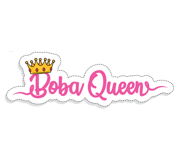 Boba Queen Sticker