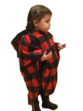 Load image into Gallery viewer, Buffalo Plaid Ponchee Set