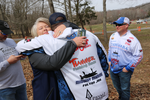 Hammer Rods Owners Ty Cox and Sandie Cox Celebrate After Cabelas Bass Series Tournament