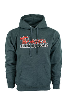 Hammer Fishing Rods Hoodie - Charcoal Gray