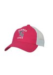 Hammer Mesh Back Cap | Hot Pink & White