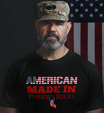 AMERICAN Made in PR  v2 - Unisex T-Shirt
