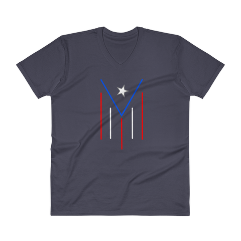 Men's PR modern flag - V-Neck T-Shirt