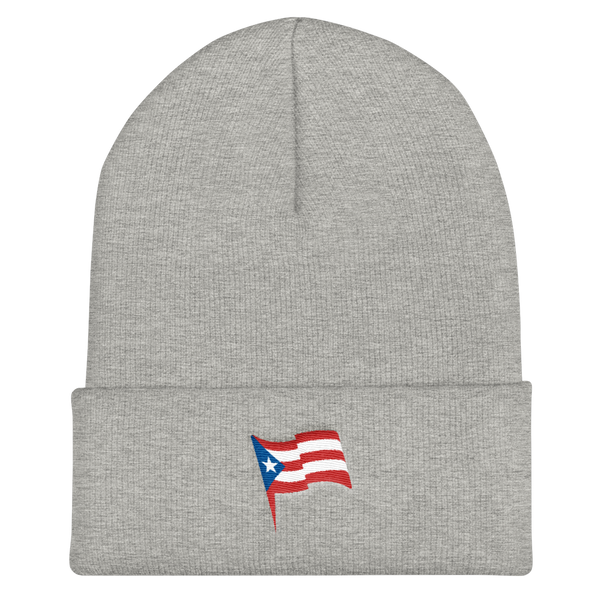 puerto rico flag embroidery beanie