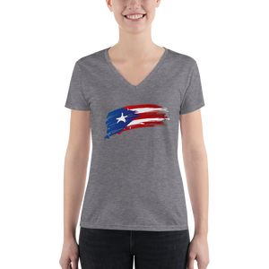 Women's PR Flag V-neck Tee