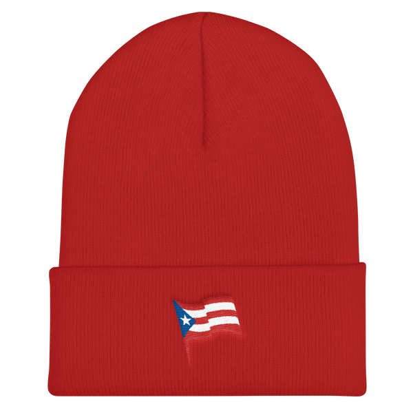 Puerto Rico flag - Embroidered Cuffed Beanie