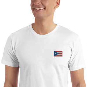 Embroidered Puerto Rico Flag T-Shirt
