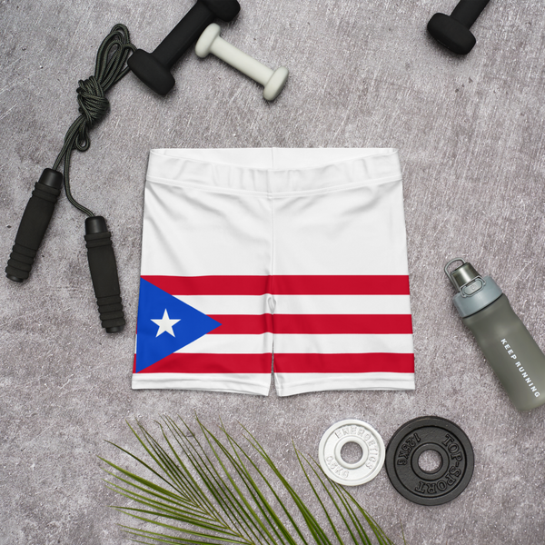 Puerto Rico Flag fit Shorts