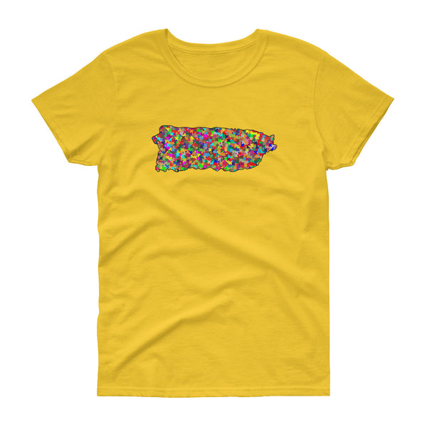 PR Color puzzle - Women's short sleeve t-shirt