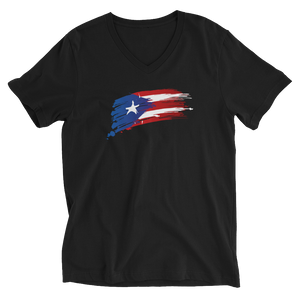 PR Flag - Unisex V-Neck T-Shirt