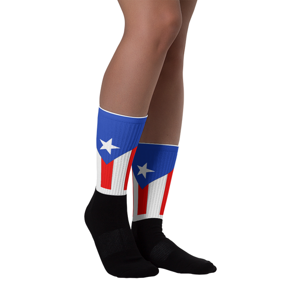 Puerto Rico flag Socks