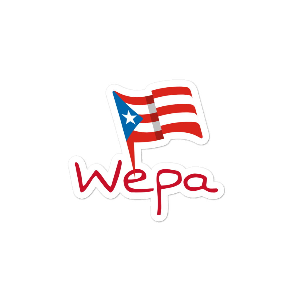 WEPA PR Flag sticker