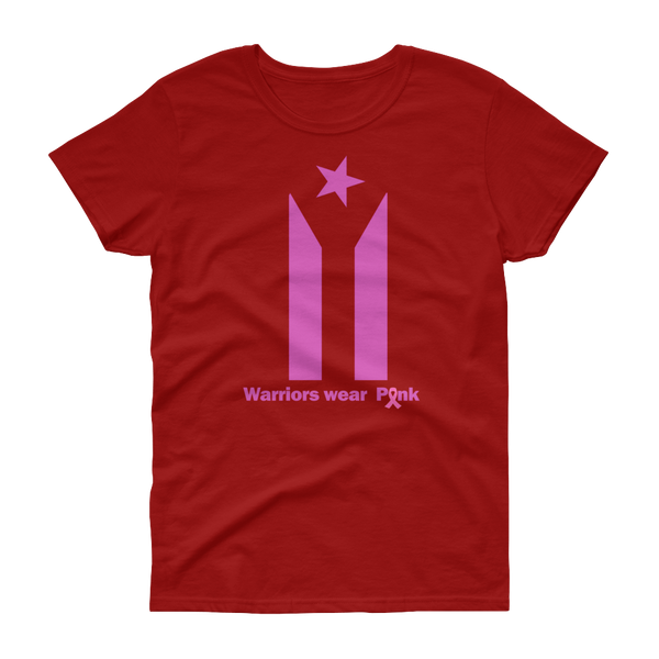 Women's Warriors wear Pink - short sleeve t-shirt