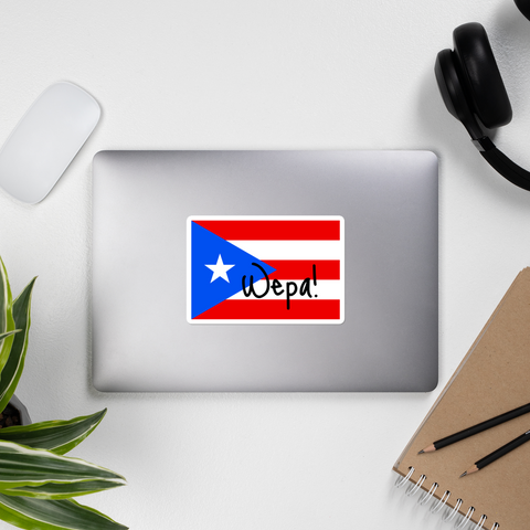 WEPA! PR flag Sticker