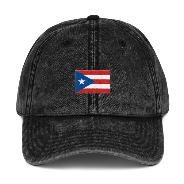 Puerto Rico flag Hat - Vintage Cotton Twill Cap
