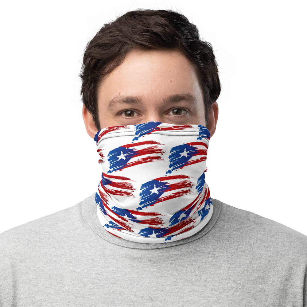 PR Flags pattern Mask/Neck Gaiter