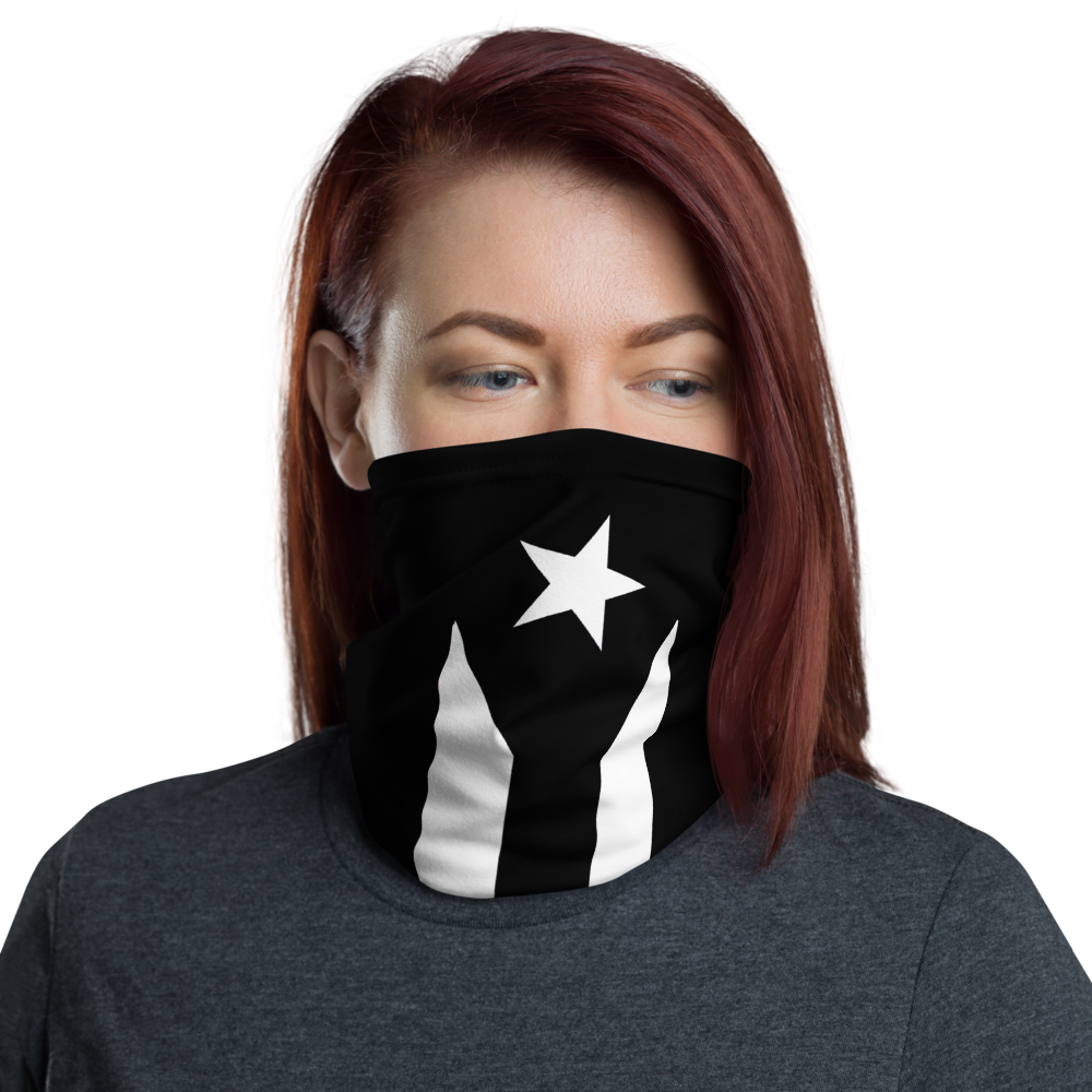 PR black Flag Neck Gaiter
