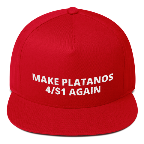 Make Platanos 4/$1 Again Red Hat / Cap
