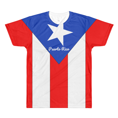 Puerto-Rico Flag All-Over Printed T-Shirt