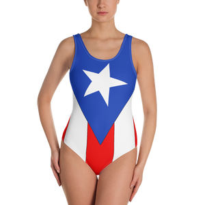 Puerto Rico flag One-Piece Swimsuit