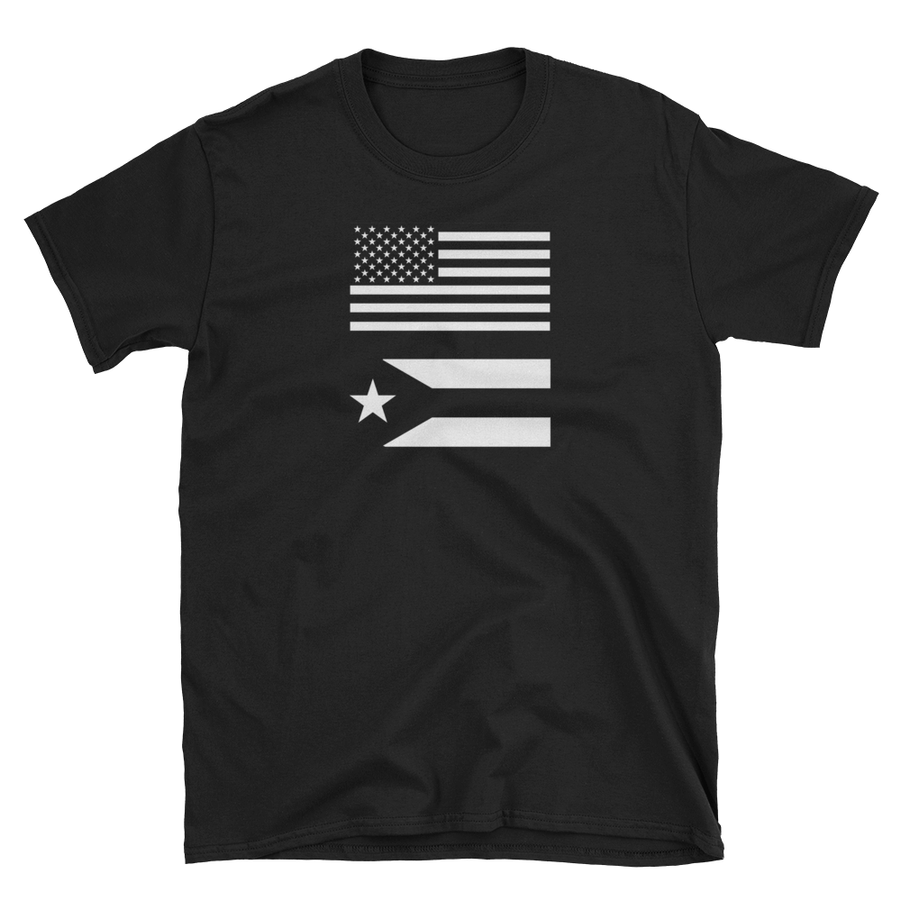 USA-PR Black Flags Unisex T-Shirt