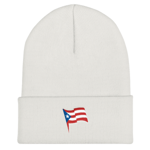 puerto rico embroidered beanie