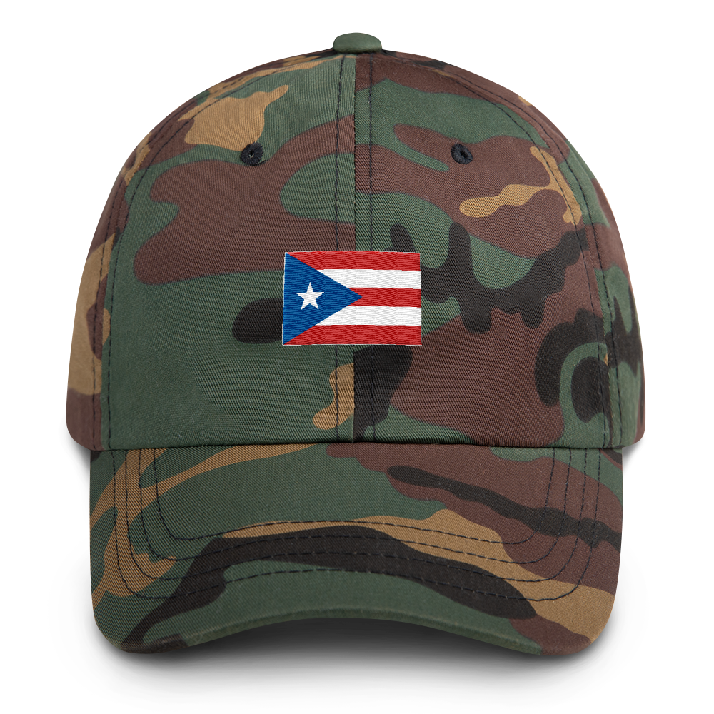 Puerto Rico Flag Camo Dad hat