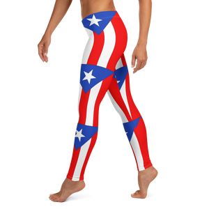 Puerto Rico Flag pattern Leggings