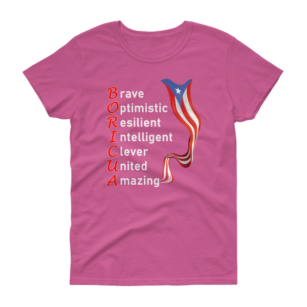 Women's BORICUA - short sleeve t-shirt