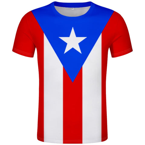 Full PUERTO RICO flag t shirt