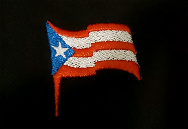 puerto rico embroidered flag