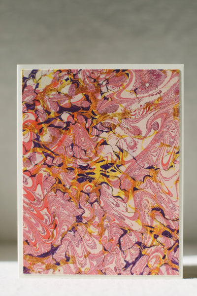 Marbled Card, Pink