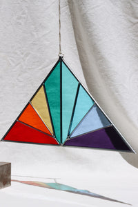 Rainbow Stained Glass Panel Suncatcher