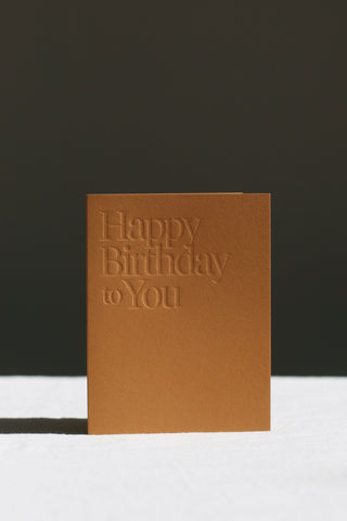 Ochre Happy Birthday Card
