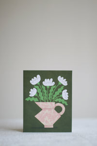 Jug with Flowers Card