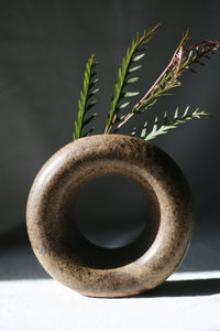 Brown Loop Vase