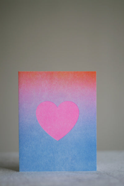 Gradient Heart Card